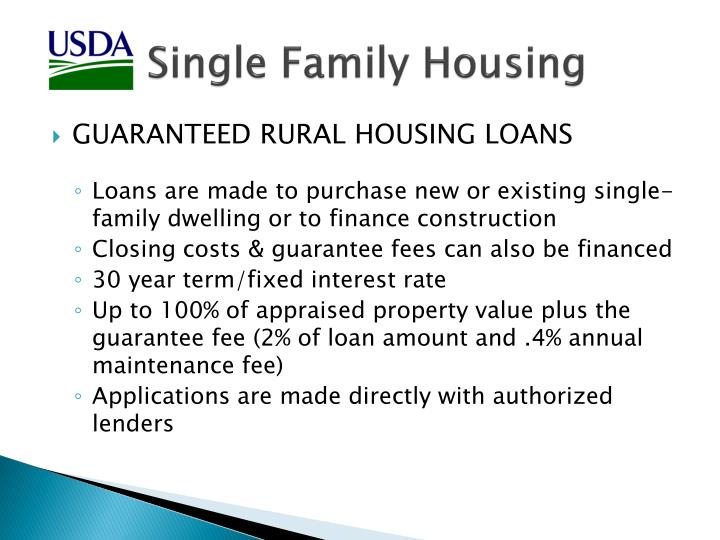 Single Family Housing