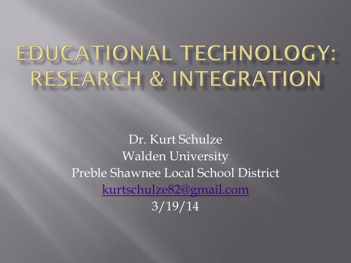 Educational technology research integration