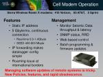 cell modem operation