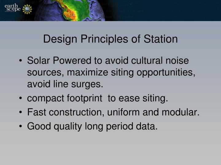 Design Principles of Station