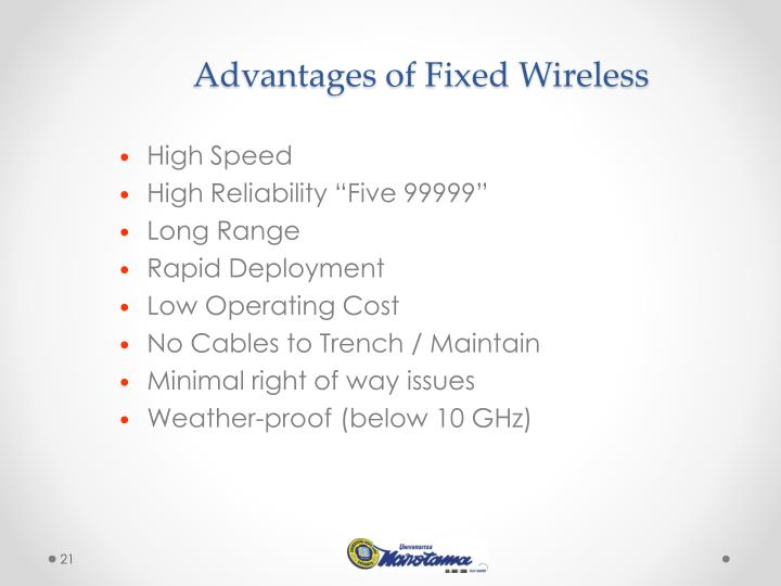 Advantages of Fixed Wireless