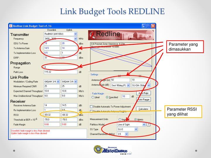 Link Budget Tools REDLINE