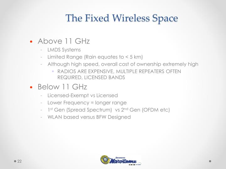 The Fixed Wireless Space