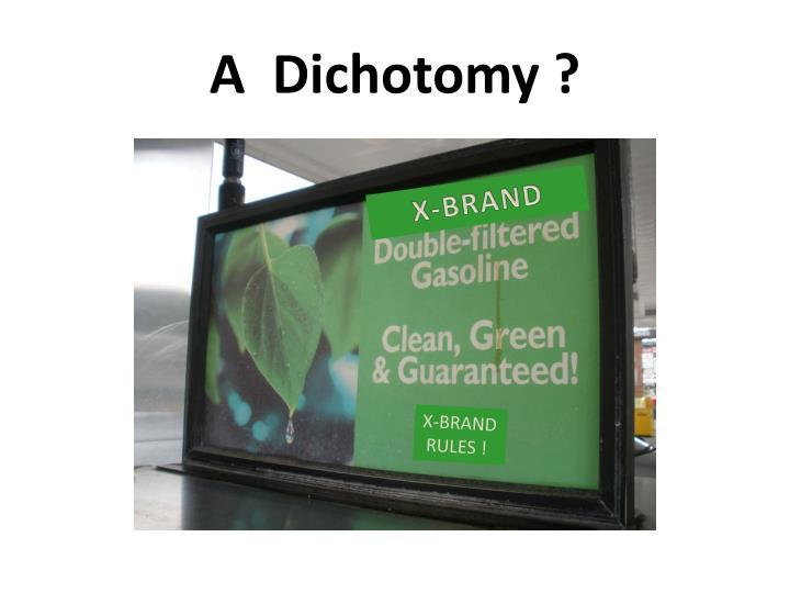 A  Dichotomy ?