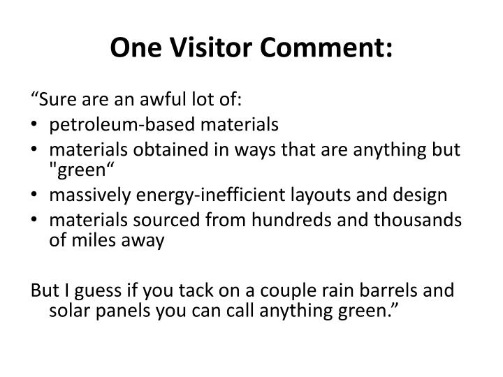 One Visitor Comment: