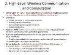 2 high level wireless communication and computation