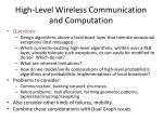 high level wireless communication and computation