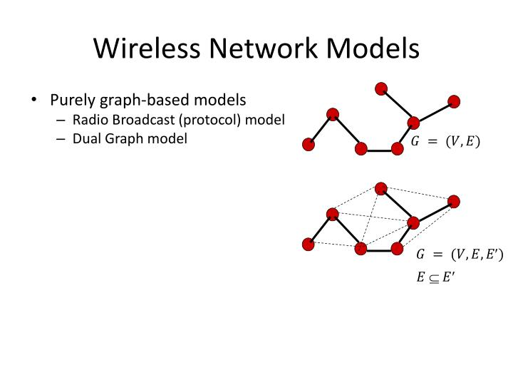 Wireless network models