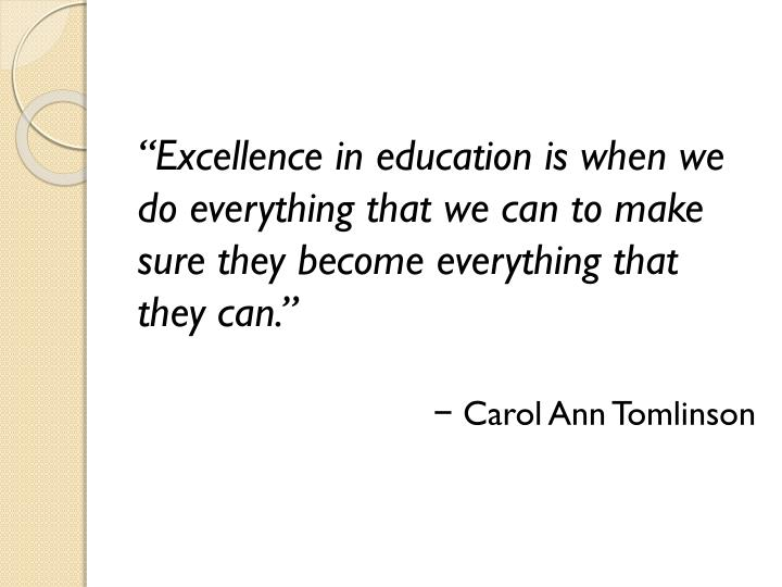 """Excellence"