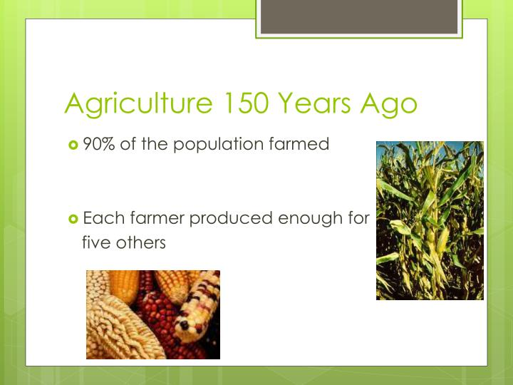 Agriculture 150 Years Ago