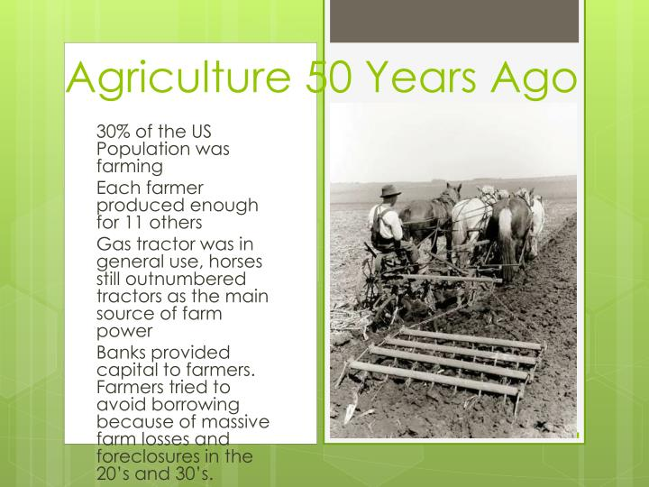 Agriculture 50 Years Ago