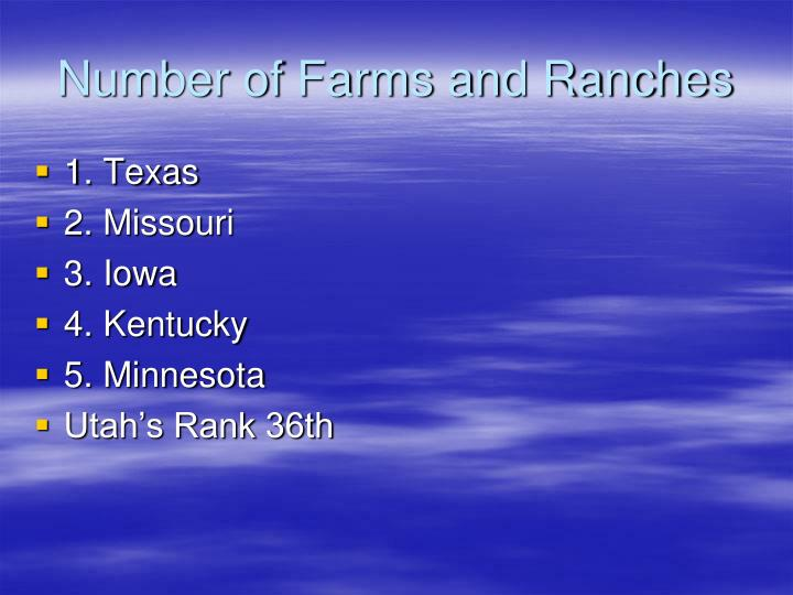 Number of Farms and Ranches