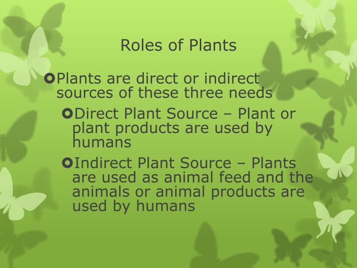 Roles of Plants