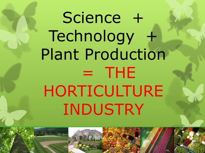 Science  +  Technology  +  Plant Production