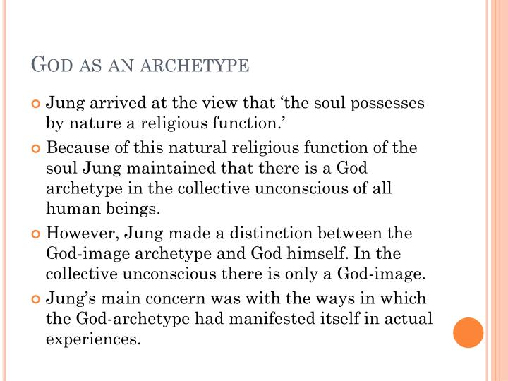 God as an archetype