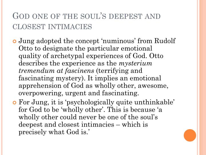 God one of the soul's deepest and closest intimacies