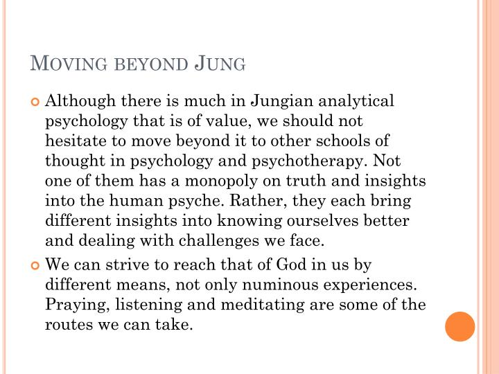 Moving beyond Jung