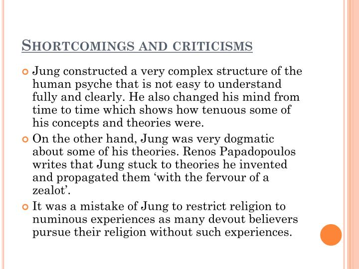 Shortcomings and criticisms