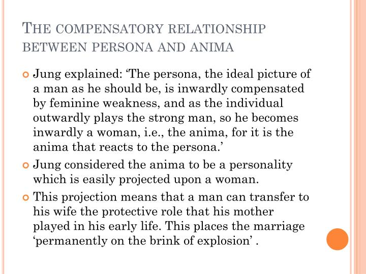 The compensatory relationship between persona and anima