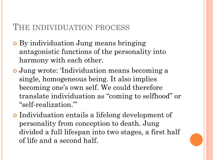 The individuation process