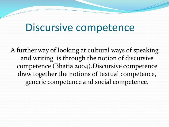 Discursive competence