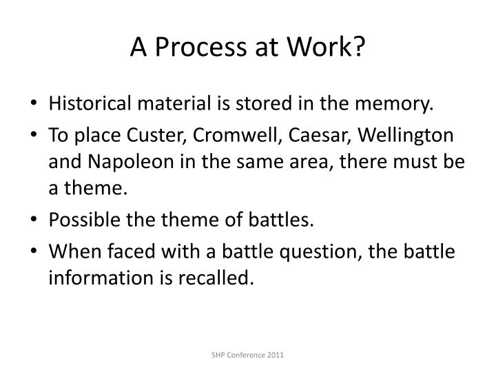 A Process at Work?