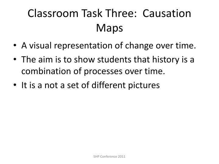 Classroom Task Three:  Causation Maps