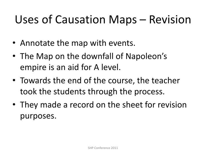 Uses of Causation Maps – Revision