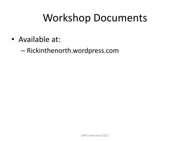 Workshop Documents