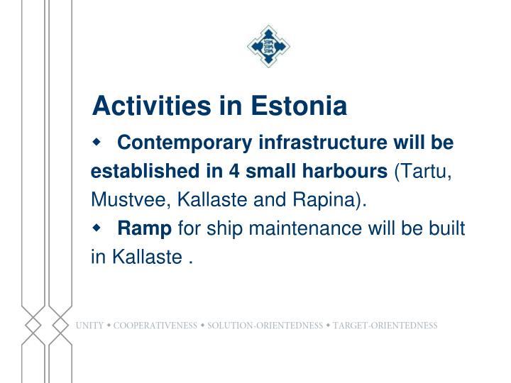 Activities in Estonia