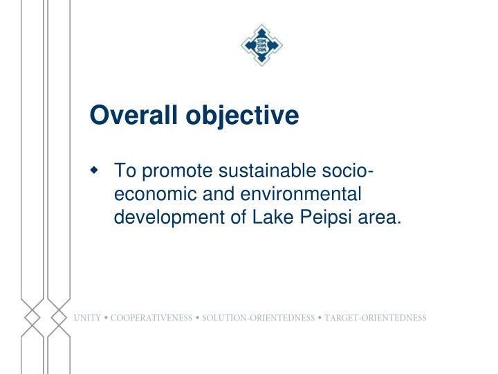 Overall objective