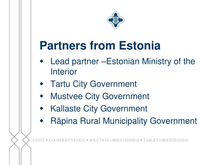 Partners from Estonia