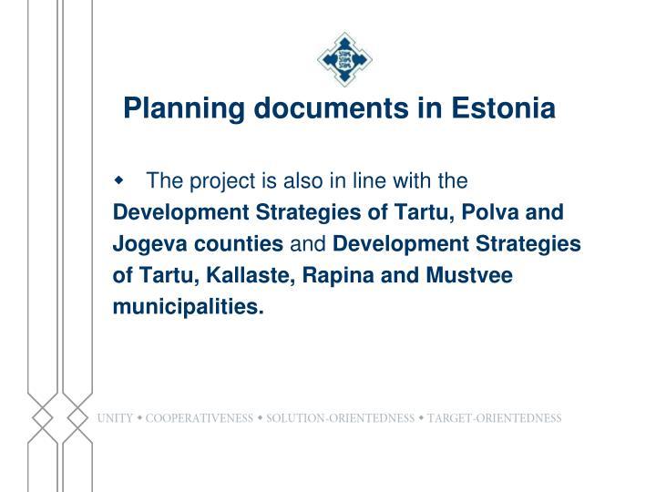 Planning documents in Estonia