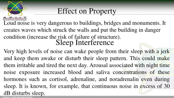 Effect on Property