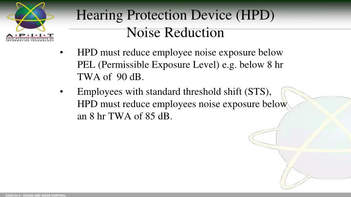 Hearing Protection Device (HPD)