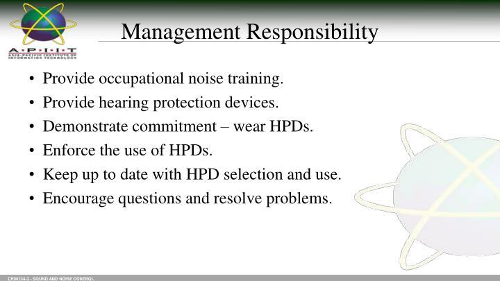 Management Responsibility
