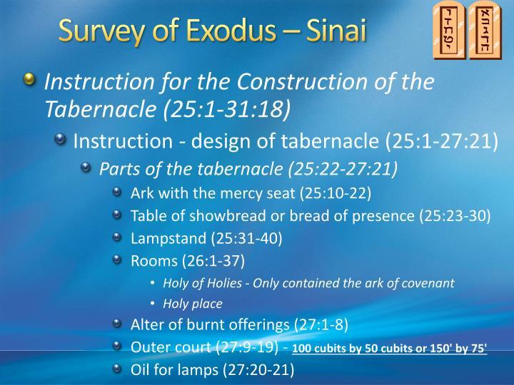 Survey of Exodus – Sinai