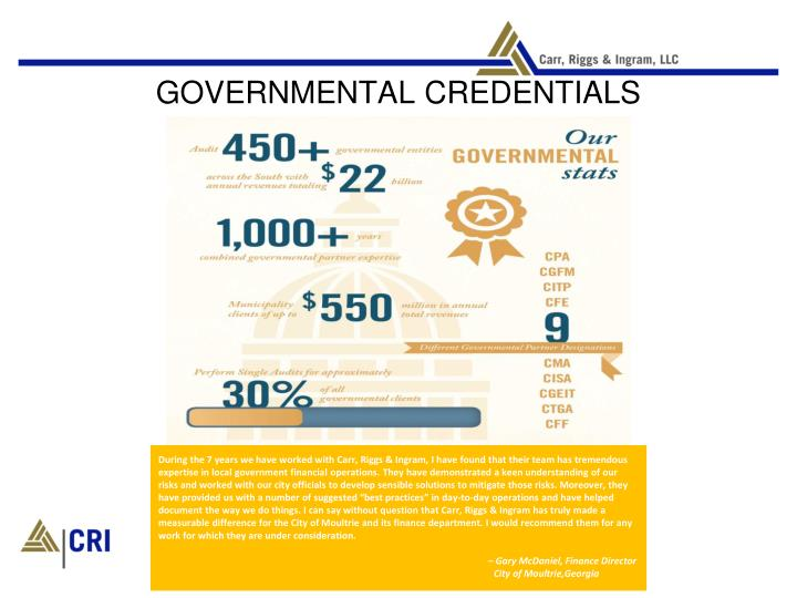 Governmental credentials