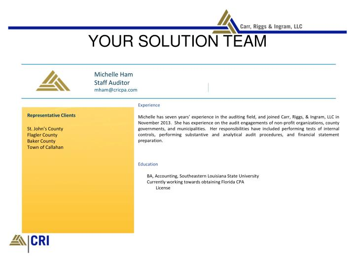 YOUR SOLUTION TEAM
