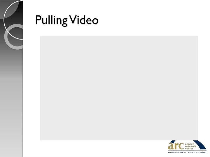 Pulling Video