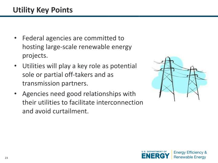 Utility Key Points