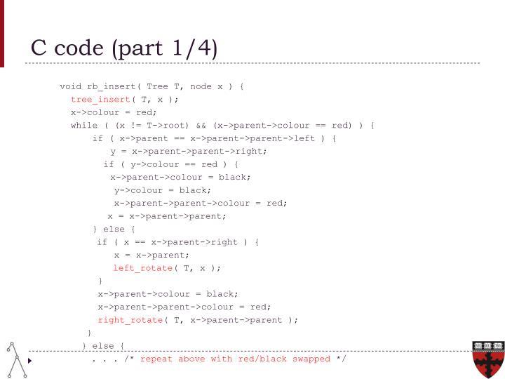 C code (part 1/4)