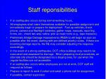 staff reponsibilities
