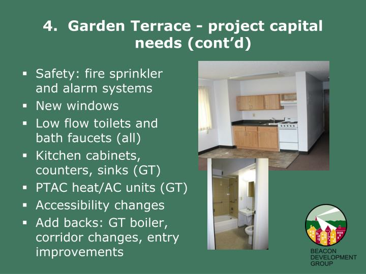 4.  Garden Terrace - project capital needs (cont'd)