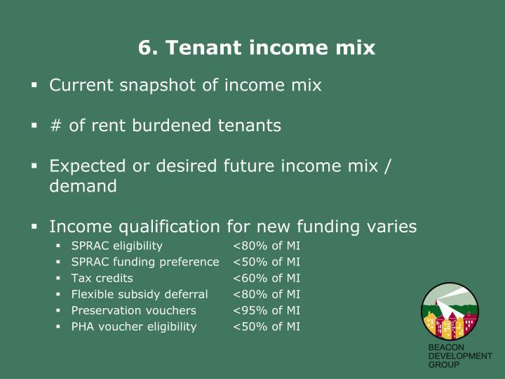 6. Tenant income mix