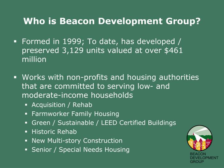 Who is Beacon Development Group?
