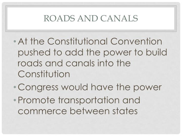 Roads and canals