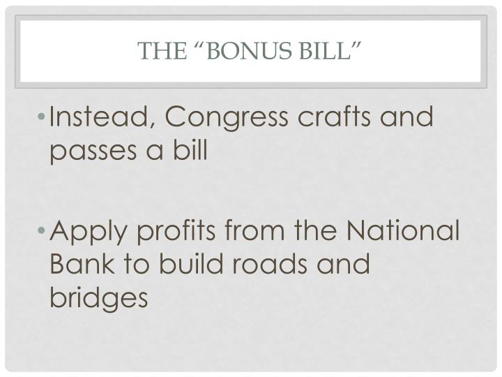 "The ""Bonus Bill"""