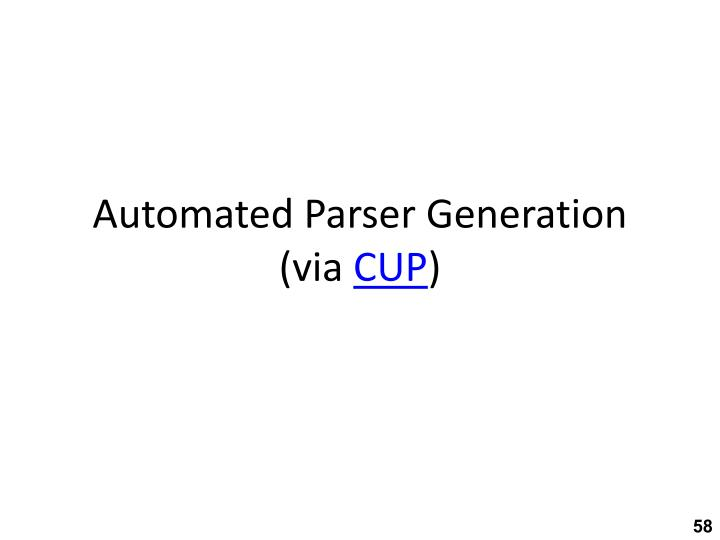 Automated Parser Generation