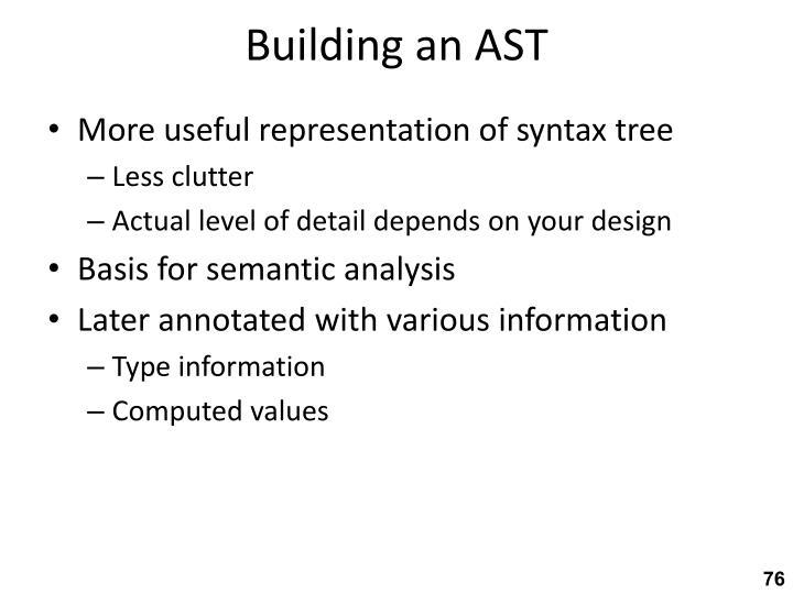Building an AST